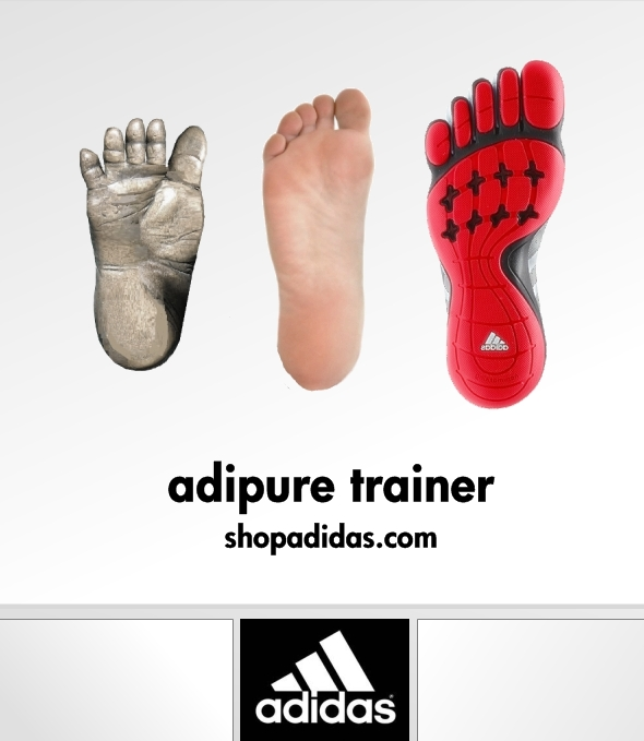 adidas adipure trainer toe shoes